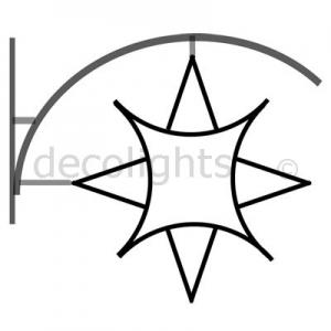 0008 - 8 punts ster voor aan de gevel