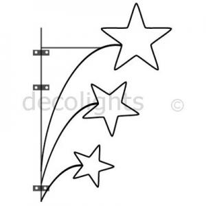 0019 - wandornament met 3 sterren