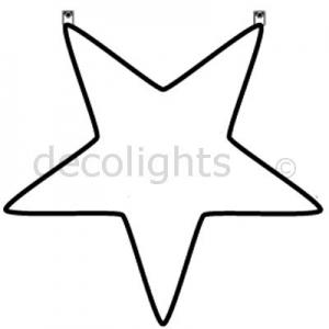 0025 grote hangende ster met 2 ophangpunten