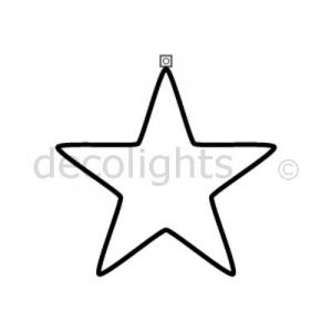 0027 Kleine ster met 1 ophangpunt