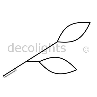 0070 - 2 blaadjes voor in vlaggenstokhouder