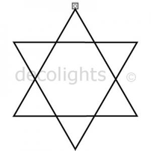 0105 + 0106 - 6 punts ster in verschillende maten
