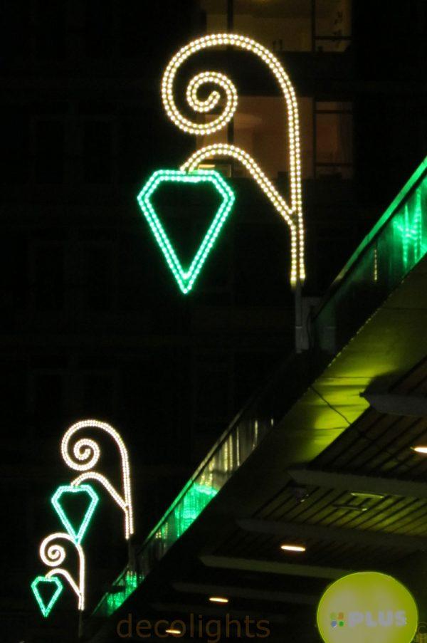 koofverlichting met smaragd