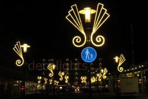 Sfeervolle verlichting aan de lantaarnpaal